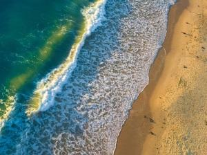 sideways beach